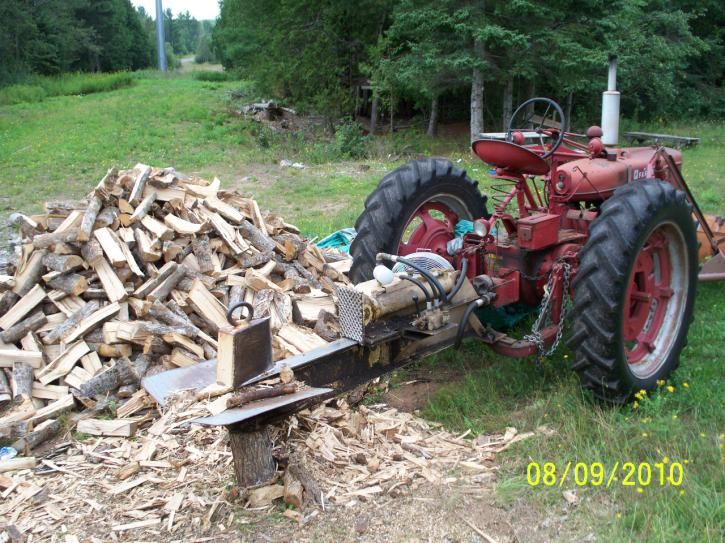 homemade wood splitter - Home Built Log Splitter Plans