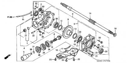 75732 Engine Removal 04 450 S on honda recon motor diagram