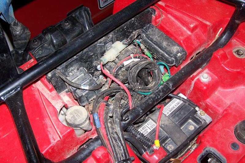 4969d1270774538 winch contactor location 100_3201 winch contactor location? honda foreman forums rubicon, rincon honda foreman 500 wiring diagram at n-0.co