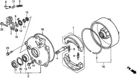 Hqdefault further  moreover Maxresdefault additionally D Rear Brakes besides Yamaha Kodiak. on honda recon parts diagram