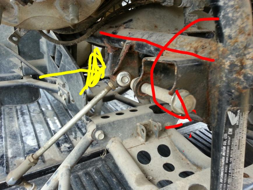 00 Rancher 350 es 2x4 help with front suspension and frame damage. - Honda Foreman Forums ...