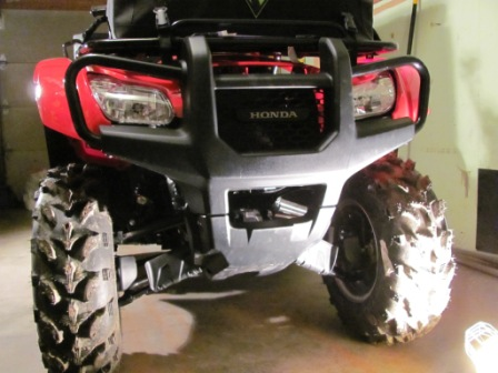 Honda Recon For Sale >> Installed warn winch on 2012 TRX500FPM - Honda Foreman Forums : Rubicon, Rincon, Rancher and ...