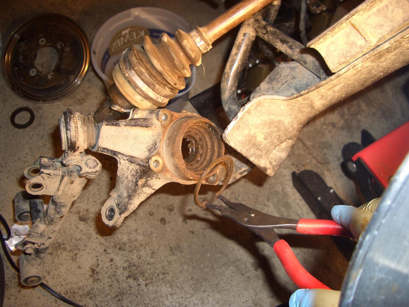 Front Wheel Bearing Replacment Honda Foreman Forums