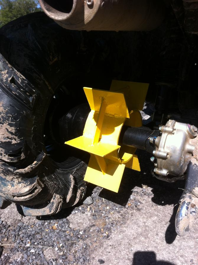 Check Out My Axle Paddle I Made Yesterday Honda Foreman
