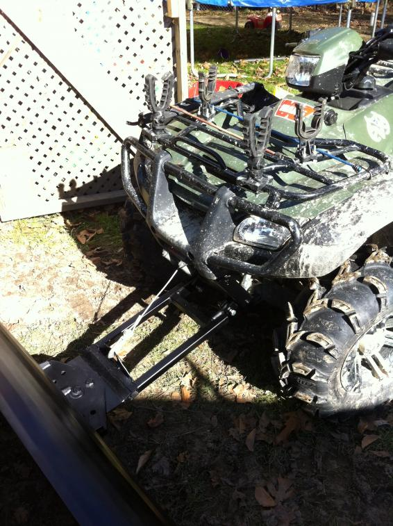 My Homemade Snow Plow And Mount Honda Foreman Forums Rubicon