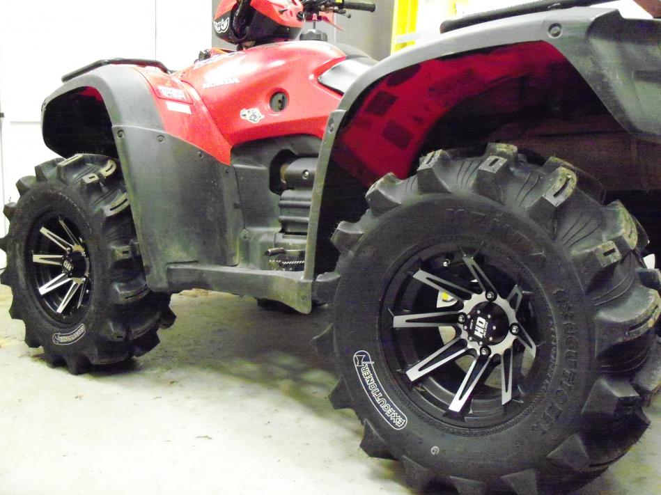 Got New Wheels And Tires Honda Foreman Forums Rubicon