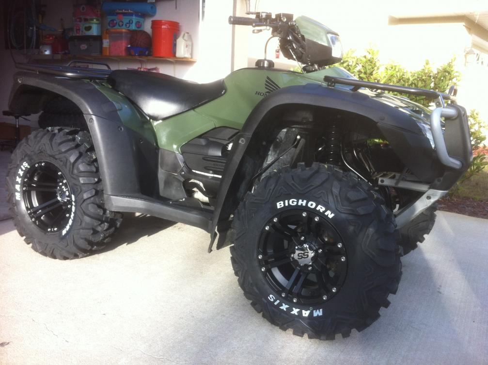 New Wheels And Tires Honda Foreman Forums Rubicon