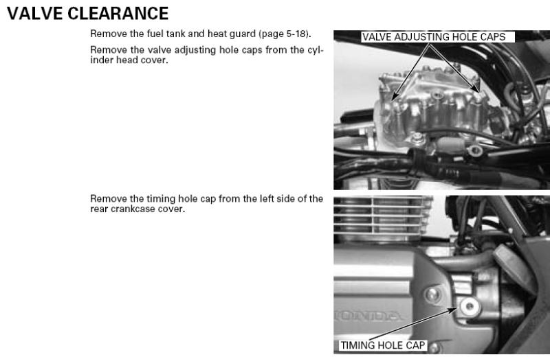 Valve Adjustment Procedures Recon All Honda Foreman
