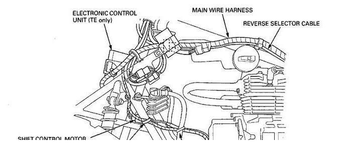 honda rancher 350 reverse cable parts diagram  honda