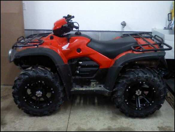 New Wheels And Tires Are On Honda Foreman Forums